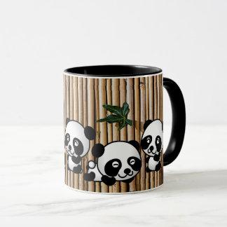 Caneca de café de bambu da panda