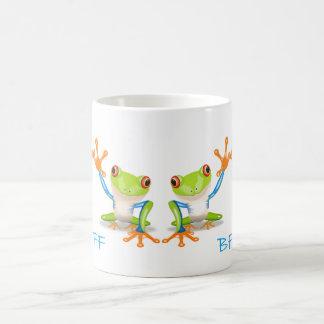 Caneca De Café De BFF dos melhores amigos copo de café branco dos