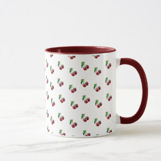 Caneca de café de Borgonha da caneca das cerejas
