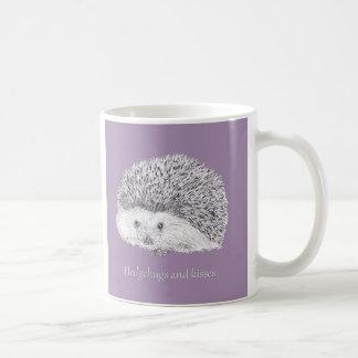 """Caneca De Café De """"caneca bonito do ouriço Hedgehugs e de beijos"""""""