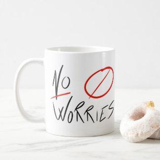 """Caneca De Café De """"caneca de café nenhumas preocupações"""" (todos"""
