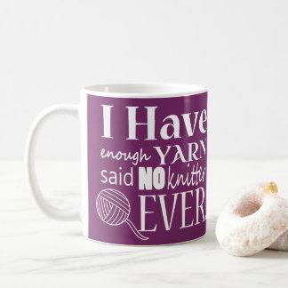 Caneca De Café ♥ de confecção de malhas não bastante artesanatos