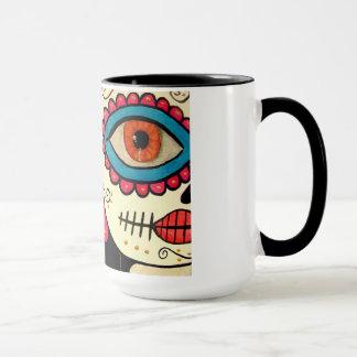 """Caneca de café de """"dia Rosa Mexicano"""" - do morto"""