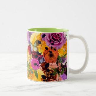 Caneca de café de flower power