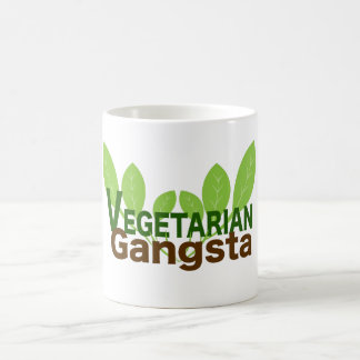 Caneca de café de Gangsta do vegetariano