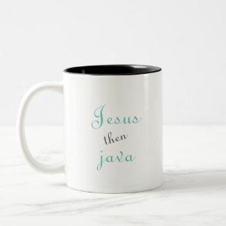 Caneca de café de Jesus então Java