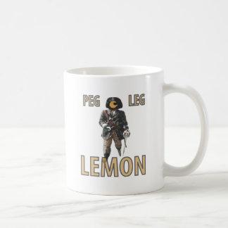 """Caneca De Café De """"limão do pé Peg"""" do pirata"""