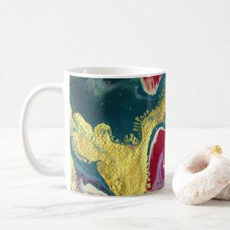 Caneca de café de mármore do redemoinho