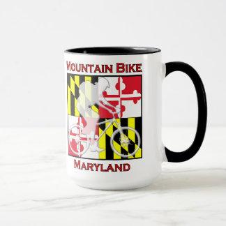 Caneca de café de Maryland do Mountain bike