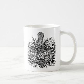Caneca de café de Mjolnir - de Valknut