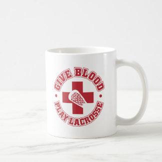 Caneca De Café Dê o sangue, Lacrosse do jogo