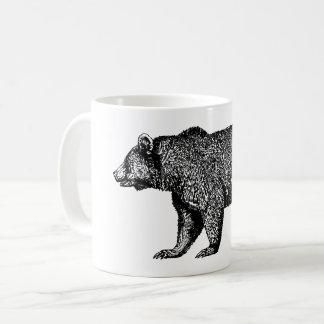 Caneca de café de passeio do urso de urso