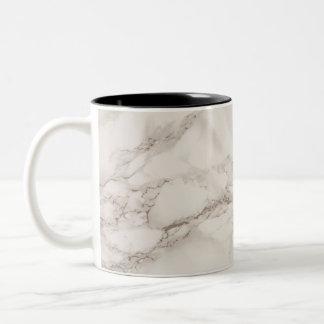 Caneca de café de pedra de mármore do Dois-Tom