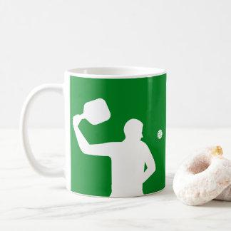 Caneca de café de Pickleball: Silhueta do jogador