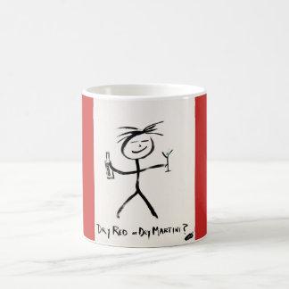Caneca de café de Screwballs™ DryRedDryMartini