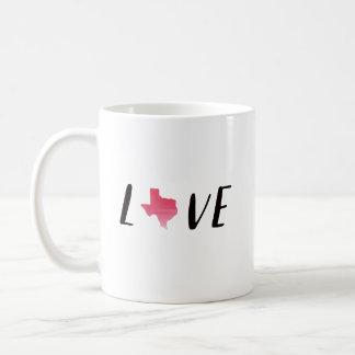 Caneca de café de Texas do amor com estado