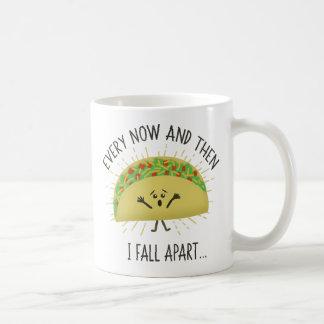 Caneca De Café De vez em quando eu caio distante Taco