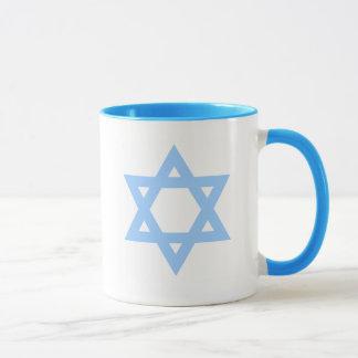Caneca de café de Viva Israel da estrela de David