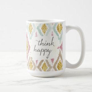 Caneca De Café Deco macio V | pensa feliz