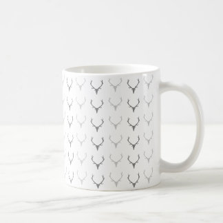 Caneca De Café Deer Antler Pattern