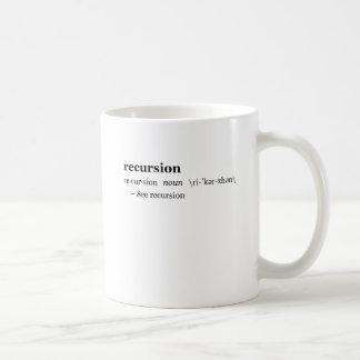Caneca De Café Definição da recursão
