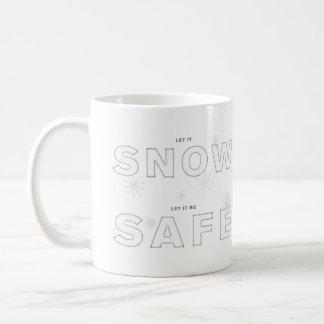 Caneca De Café Deixais lhe para nevar, deixe-o ser SEGURO