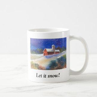Caneca De Café Deixais lhe para nevar!  Fazenda silenciosa da