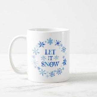 Caneca De Café Deixais lhe para nevar foto do Natal