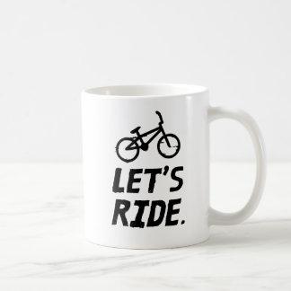 Caneca De Café Deixe-nos montar o humor do ciclista da cidade e