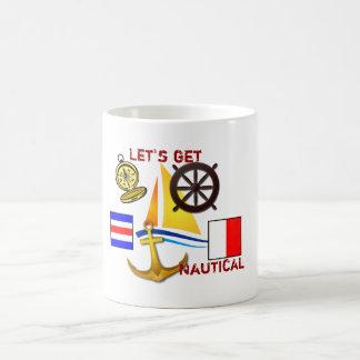 Caneca De Café Deixe-nos obter náuticos - copo de café