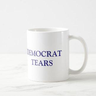 Caneca De Café Democrata engraçada rasga o republicano