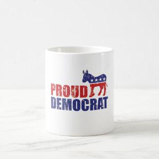 Caneca De Café Democrata orgulhosa Tan afligido asno