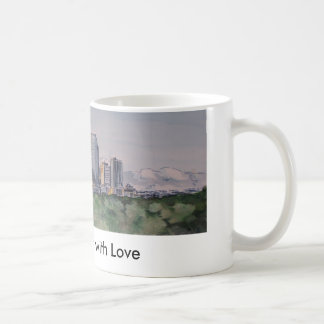 Caneca De Café DenverSkyLine, de Denver com amor