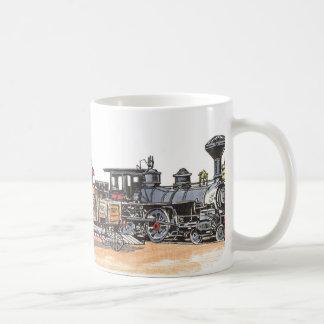 Caneca De Café Depósito ocidental velho da estrada de ferro