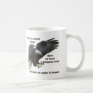 Caneca De Café Desafio a estar edição sozinha, americana da águia