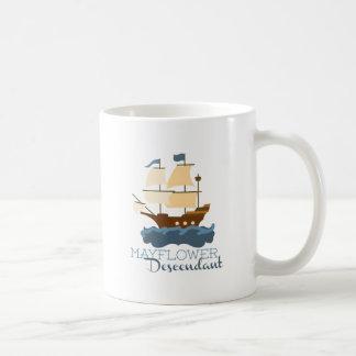 Caneca De Café Descendente de Mayflower