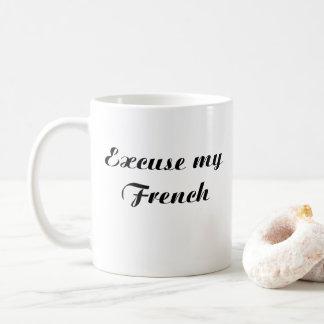CANECA DE CAFÉ DESCULPE MEU FRANCÊS