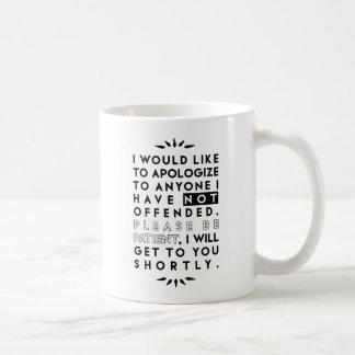 Caneca De Café desculpe-se