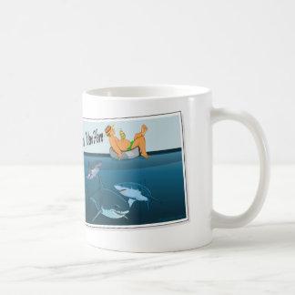 Caneca De Café desejo-você-estar-aqui-tubarões