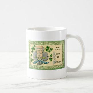 Caneca De Café Desenhar irlandês do vintage original do Dia de