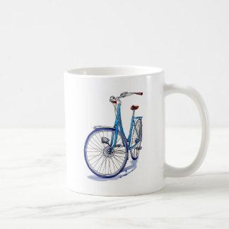 Caneca De Café Desenho azul da bicicleta