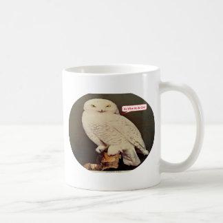 Caneca De Café desenho branco da coruja