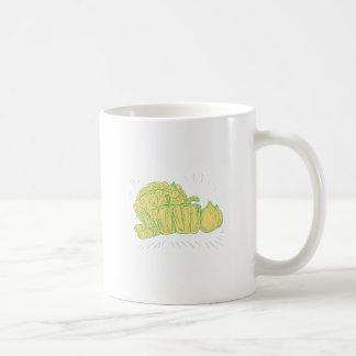 Caneca De Café Desenho da cebola do capsicum de Brocolli