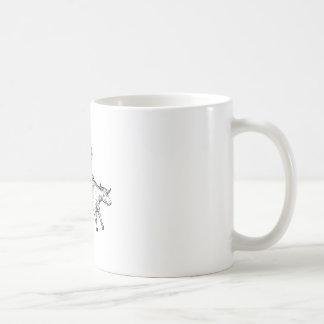 Caneca De Café Desenho do vaqueiro do rodeio da equitação de Bull
