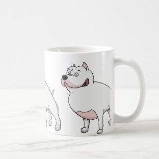 Caneca De Café desenhos animados 2 do terrier de Staffordshire