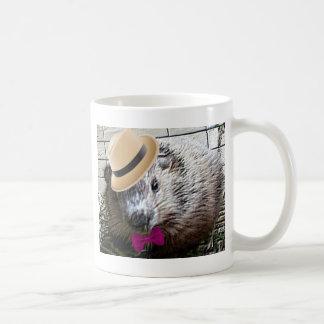 Caneca De Café Desenhos animados bonitos da marmota!