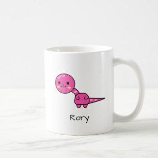 Caneca De Café Desenhos animados cor-de-rosa alegres de Kawaii do