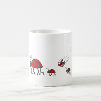 Caneca De Café Desenhos animados da formação do joaninha