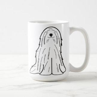 Caneca De Café Desenhos animados do cão de Komondor