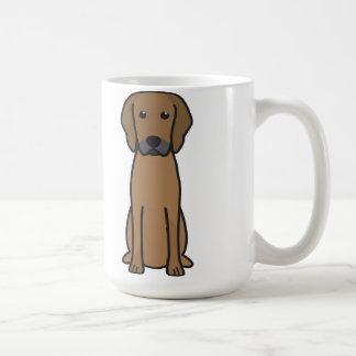 Caneca De Café Desenhos animados do cão de Rhodesian Ridgeback